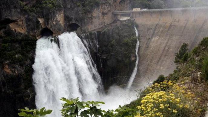 El desembassament de Camarasa a vista de dron