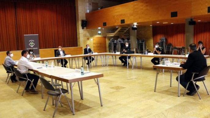 Junta local de seguretat d'Alcarràs celebrada al Centre Cultural Municipal