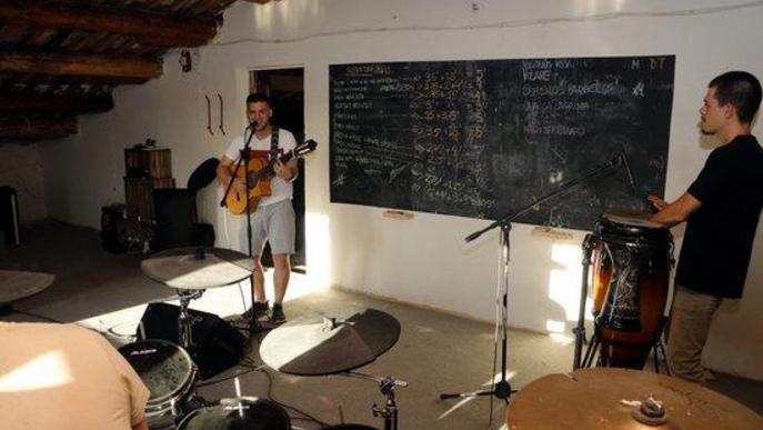 Grup musical Fa1na primer assaig confinament