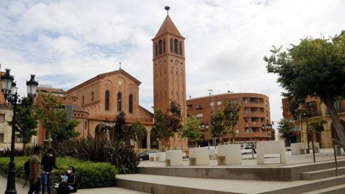 Arxiu plaça Ajuntament Mollerussa església Sant Jaume