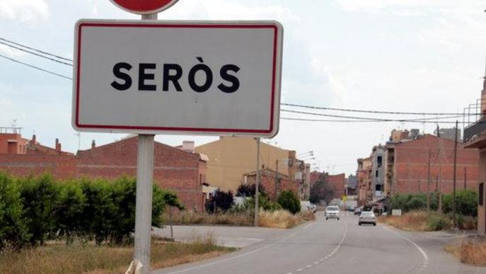 Cartell entrada municipi Seròs