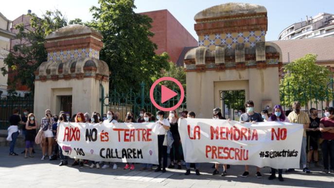 ⏯️ Concentració a Lleida contra els abusos sexuals a l'Aula de Teatre