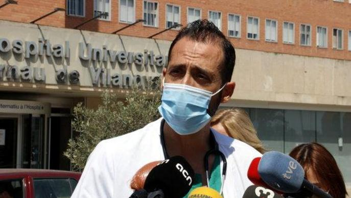 """El responsable de Covid a l'Arnau de Lleida: """"La pressió ha baixat una mica, però tampoc per llençar coets"""""""