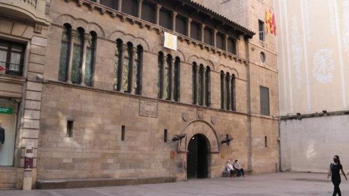 Pla general de la façana de l'Ajuntament de Lleida