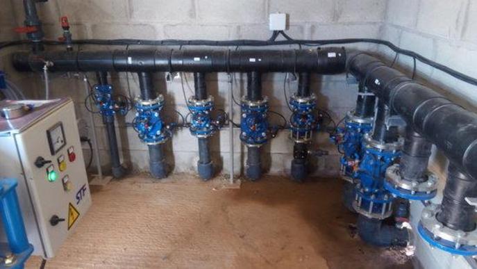 Imatge del sistema d'automatització del reg desenvolupat per l'empresa Ongrup