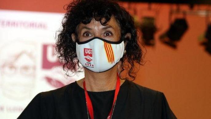 Pla mitjà de la nova secretària general de la FESMC de la UGT de les Terres de Lleida