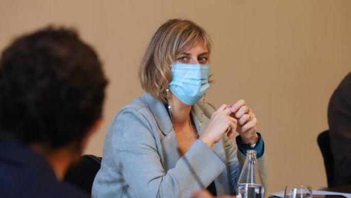 La consellera de Salut, Alba Vergés, a la reunió extraordinària del Consell Executiu