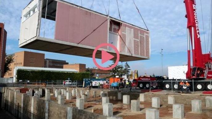 ⏯️ Comença el muntatge del mòduls del nou edifici de l'Arnau de Vilanova