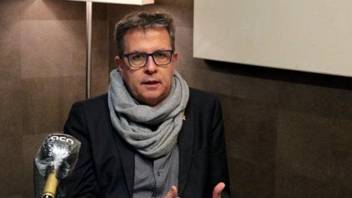 divendres, 04 desembre 2020 14:54 Salvador Miret Pla obert on es pot veure al president de la Diputació de Lleida, Joan Talarn, entrevistat per l'ACN