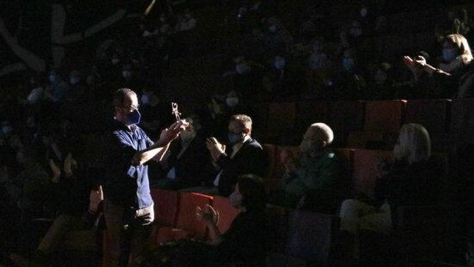 Carles Porta amb el Premi Animac 2021