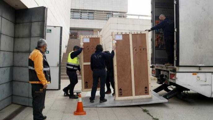 ⏯️ Surten del Museu de Lleida les obres d'art de la Franja cap a Barbastre