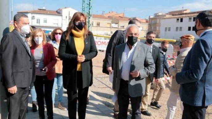 ⏯️ La primera pedra de l'Arxiu Comarcal de les Garrigues, que estarà enllestit en un any i mig