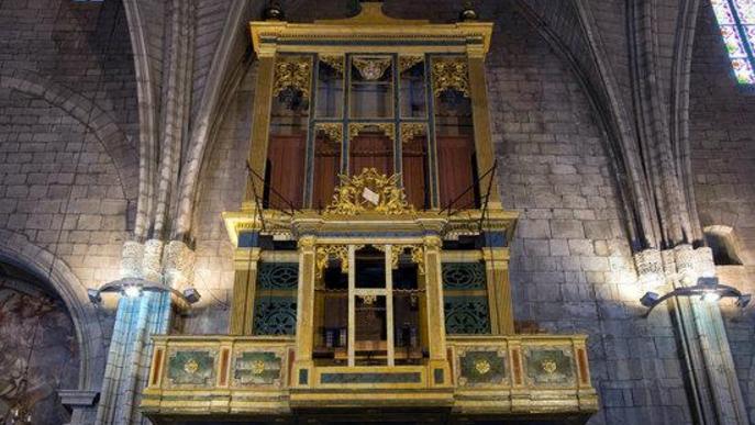 Vista general de l'orgue de la catedral de Solsona