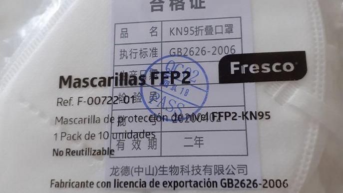 CGT Lleida ha repartit 400 mascaretes FFP2 entre treballadores i treballadors