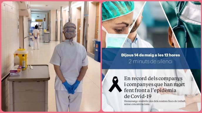 Les Infermeres de Lleida s'uneixen a l'homenatge pels sanitaris morts per COVID19