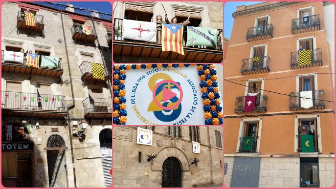 ⏯️ La Festa de Moros i Cristians de Lleida es fa sentir amb música i balcons engalanats