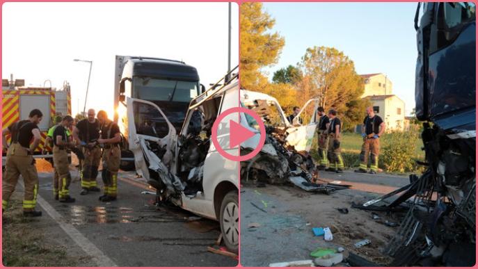 ⏯️ Mor el conductor d'una furgoneta en un xoc frontal contra un camió a Puigverd de Lleida