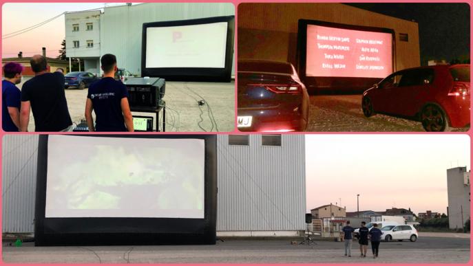 Autocinema auto cine Golmés proves pantalla gegant