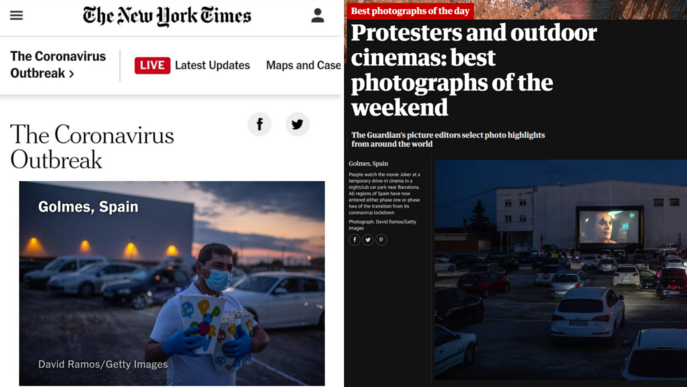 L'auto cine de Golmés, al New York Times i The Guardian