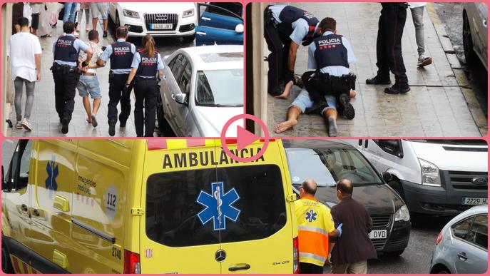 ⏯️ Una forta baralla acaba amb un detingut al barri del Clot de Lleida
