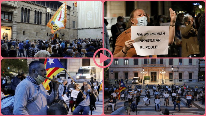 ⏯️ Unes 300 persones es concentren a Lleida contra la inhabilitació de Torra