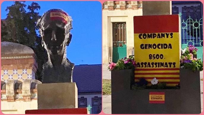 Sabotegen el monument dedicat a Lluís Companys a Lleida