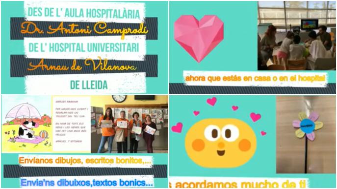 Dibuixos i missatges d'infants per als pacients i professionals de l'Arnau de Vilanova