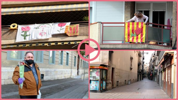 ⏯️ Lleida viu un Sant Jordi atípic sense parades de llibres i roses