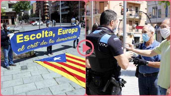 ⏯️ La Urbana de Lleida aixeca acta a entitats sobiranistes per saltar-se el confinament en un acte pel Dia d'Europa