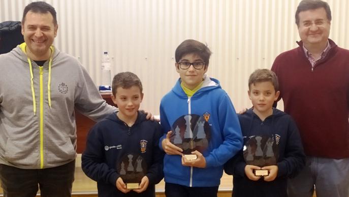 Guerau Benseny, del Club Escacs Lleida, campió del Territorial d'Escacs sub-12