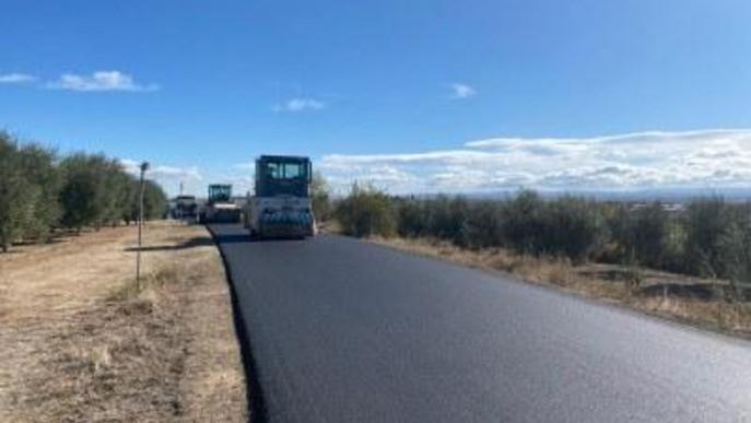 El Camí del Coll del Mixó d'Alcarràs, asfaltat