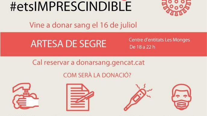 Artesa de Segre acull una campanya especial de donació de sang