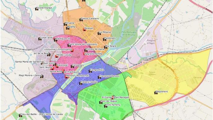 Nou mapa escolar a Lleida