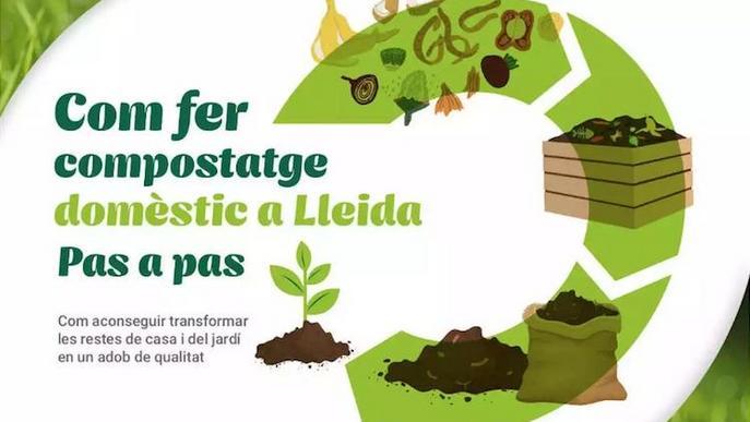 Famíliesi escoles lleidatanes aprenen a fer compost domèstic