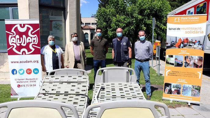 Donació de 24 llits hospitalaris a l'Acudam