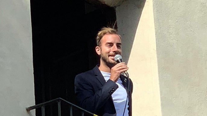 El regidor de Joventut, Festes i Tradicions, Ignasi Amor, pregoner de la Festa Major de Butsènit
