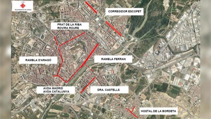 Talls de circulació de carrers de Lleida i alteració en el servei d'Autobusos amb motiu del Dia sense Cotxes
