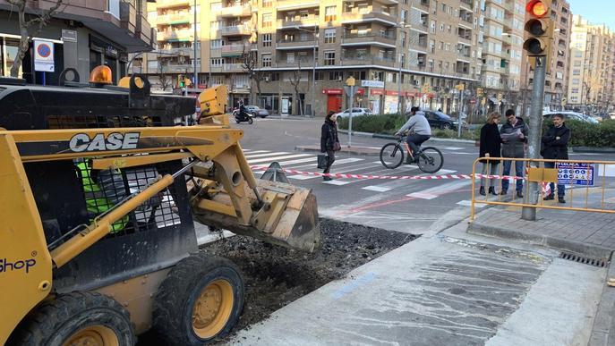 Comencen les obres del carril bici a l'avinguda Doctor Fleming