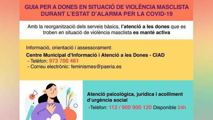 Guia d'actuació per a víctimes de violència masclista durant el confinament