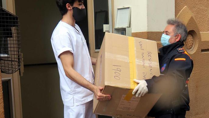 Reparteixen 20.300 màscares en 17 residències de Lleida