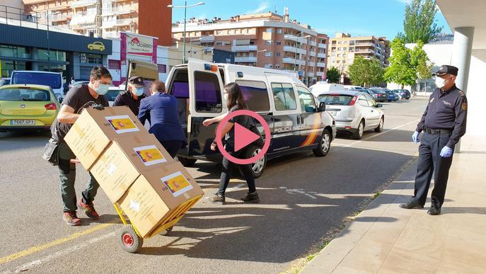 ⏯️ Lleida rep 20.000 mascaretes més