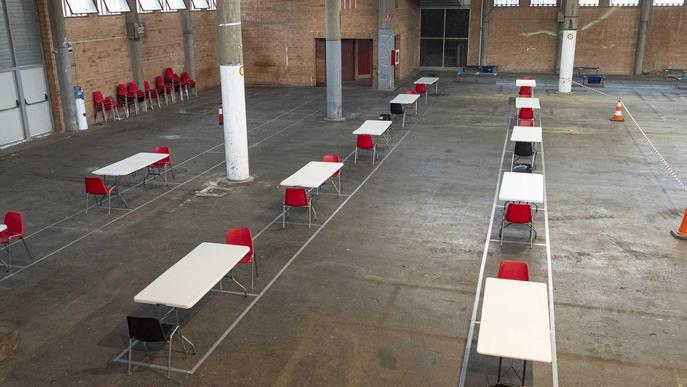 dispositiu atenció temporers llits Pavelló Fira de Lleida