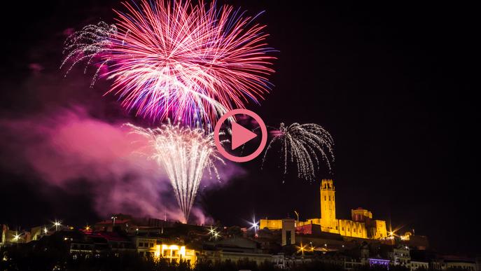 ⏯️ Lleida clou amb el tradicional castell de focs unes Festes de la Tardor atípiques