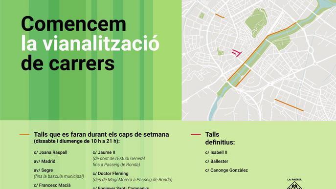 La Paeria vianalitza diversos carrers de Lleida aprofitant l'estat d'alarma