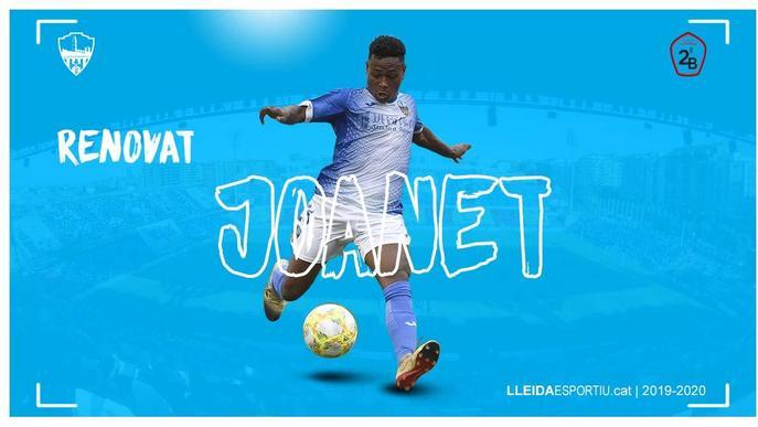 El Lleida Esportiu renova Joanet fins al 2022