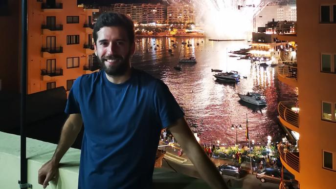 Jordi, lleidatà confinat a Malta