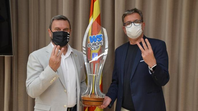 Homenatge al Lleida Llista Blava per la consecució de la tercera WS Europe Cup