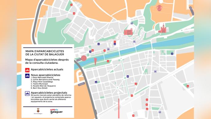 Balaguer instal·larà més aparcabicis després d'una consulta ciutadana