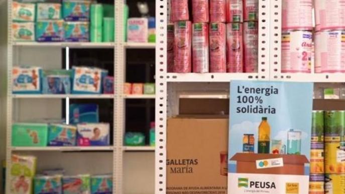 PEUSA aporta 4.000 Kg de productes de primera necessitat al Banc dels Aliments