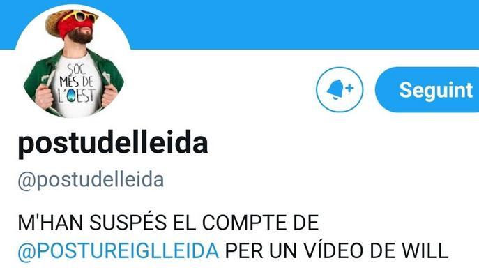 Twitter suspèn el compte de Postureig Lleida